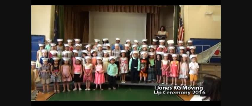 Jones Kindergarten Moving Up Ceremony