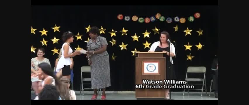 Watson WIlliams 6th Grade Moving Up Ceremony