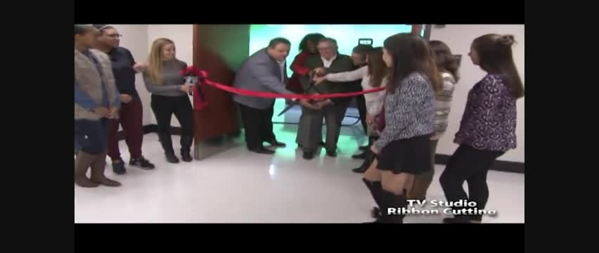 Proctor TV Studio Ribbon Cutting