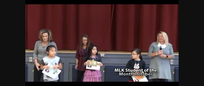 MLK Student of the Month October